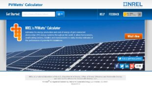 NREL PV Watts Calculator