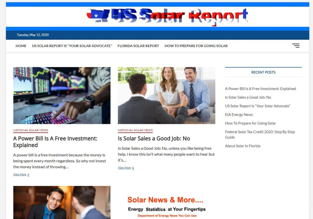 US Solar report, florida solar report,